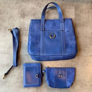 Lancel Blue Tote with Acessories